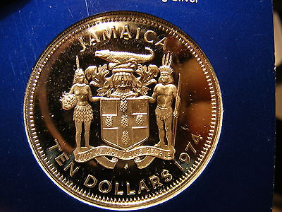 Jamaica 10 Dollars, 1974, Sir Henry Morgan, Silver Proof, Mint Sealed