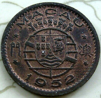 Coin Macao 10Avos 1952 Unc T2