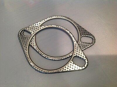"Pair of High Performance 3"" (76mm) Exhaust Gaskets, Two Pin/Bolt"