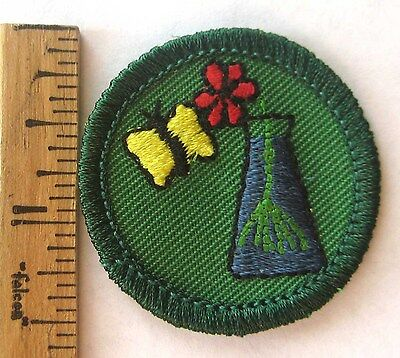 Retired 2001-11 Girl Scout Junior PLANTS & ANIMALS BADGE Butterfly Nature Patch