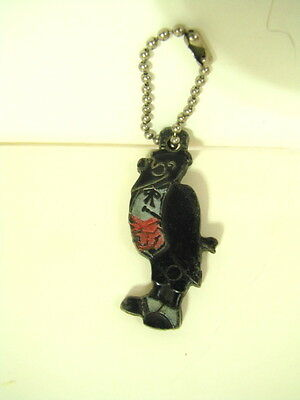 Vintage Old Crow Kentucky Whiskey PLASTIC CROW KEYCHAIN MASCOT advertising