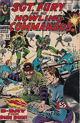 1968 Marvel Comics Sgt. Fury & Howling Commandos #59 AB