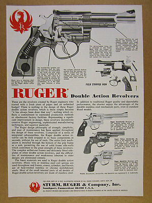 1978 Ruger Security Police Service & Speed Six Revolvers vintage print Ad