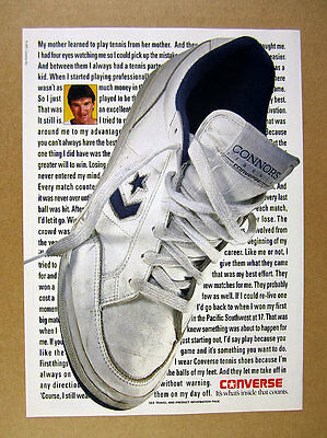 1991 Converse Jimmy Connors Classic shoe photo vintage print Ad