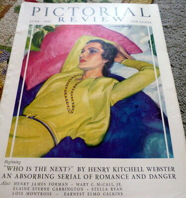 VTG 1930s PICTORIAL REVIEW MAGAZINE Paris Designers Sewing Pattern Catalog 1931