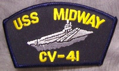 Embroidered Military Patch USS Ronald Reagan CVN 76 Navy ship NEW 4 7//8 x 3 1//4