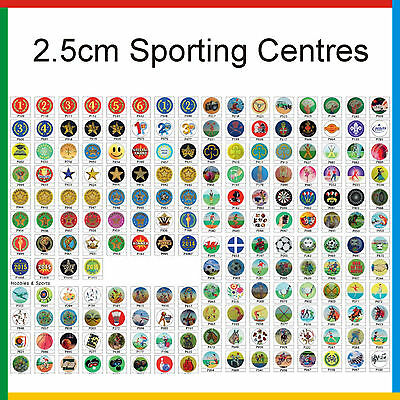 TROPHY CENTRES - 2.5cm Fits Standard Trophies & Medals: Sports Acrylic Inserts