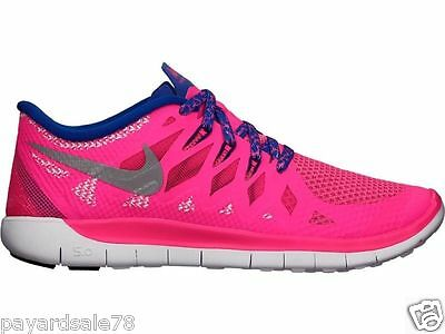 Girl's Size 6 Youth 6Y Nike Free 5.0 Running Sneakers / Shoes Hyper Pink 644446