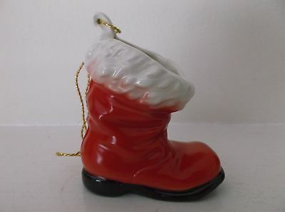 Vintage Goebel West Germany Red & White Santa's Boot Christmas Ornament-57401