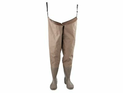 SNOWBEE Nylon PVC Hip Length Waders US7 Surf Gear Fishing Rubber Boots