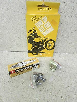 Nos 1970 70 Yamaha Ht1 90 Hot U Tune Up Kit Points Condenser Spark Plug Ndtk-210