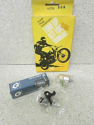 Nos 74-75 Yamaha Mx100 Mx 100 Hot U Tune Up Kit Points Condenser Spark Plug