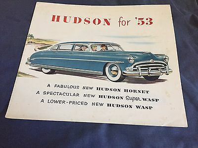 1953 Hudson Hornet Super Wasp and Wasp Pacemaker Color Brochure Prospekt