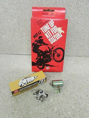 Nos Suzuki Tm75 Ts75 75 Ts50 50 Hot U Tune Up Kit Points Condenser Spark Plug