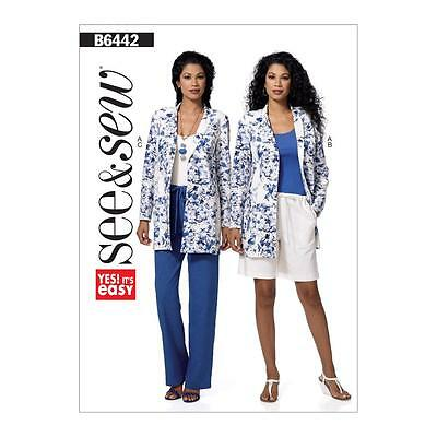 BUTTERICK NÄHMUSTER See & Sew Misses\' sehr einfach Jacke Shorts ...