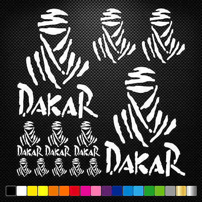 17x DAKAR Vinyl Decal Stickers Sheet Motorcycle Sponsors Auto Tuning Quality