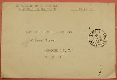 1946 Tunisia Multi Franked  Airmail Cover To Usa