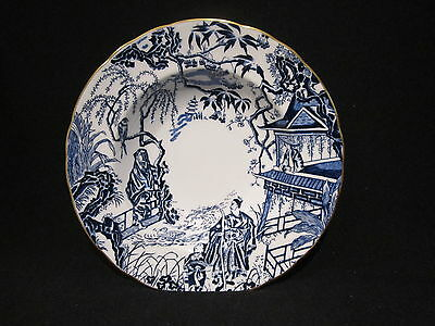 Royal Crown Derby BLUE MIKADO- Rim Soup Bowl