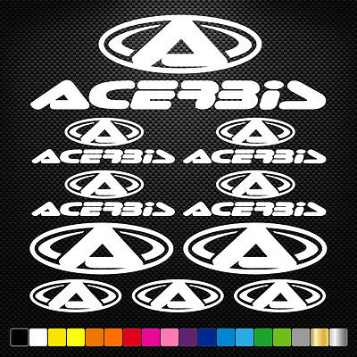 15x ACERBIS Vinyl Decal Stickers Sheet Motorcycle Sponsors Auto Tuning Quality