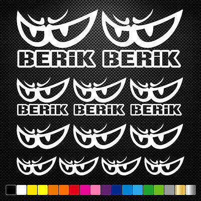 17x BERIK Vinyl Decal Stickers Sheet Motorcycle Sponsors Auto Tuning Quality
