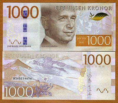 Sweden, 1000 Kronor, 2015, P-74, Redesigned UNC