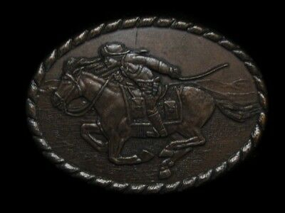 Nc15109 Vintage 1981 **pony Express Rider** Old West Belt Buckle