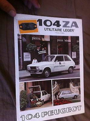 1970s Peugeot 104ZA Color Sales Brochure Prospekt