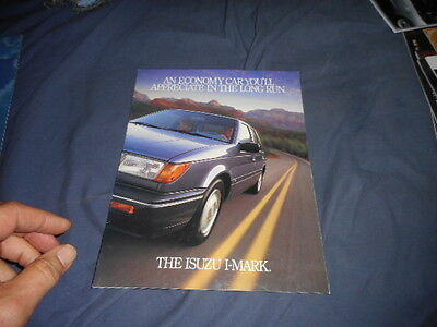 1988 Isuzu IMark Color Sales Brochure Catalog Prospekt
