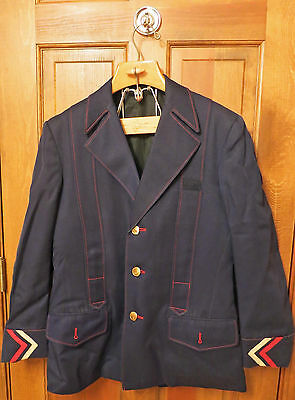 AMTRAK RAILROAD CONDUCTOR'S UNIFROM  JACKET CA 1970's VINTAGE