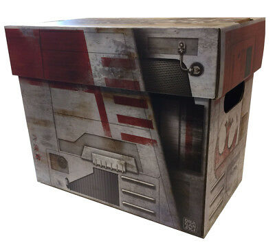 X-WING Starship Art Comic Book Storage Box Star Wars Style Holds 125-140 Comics