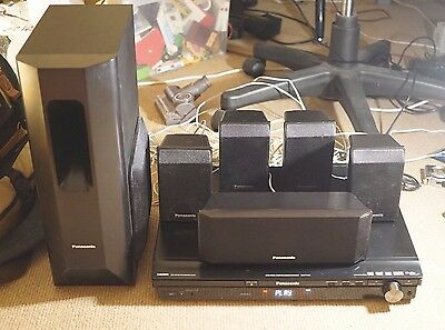 Panasonic SA-PT450 Home Theater System DVD Player FM Radio Surround Sound Bundle