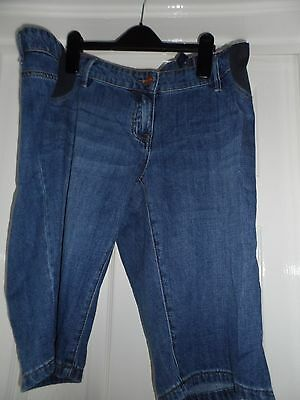 Bnwt new next ladies blue low rise maternity jeans shorts  size 14 reg rrp £26