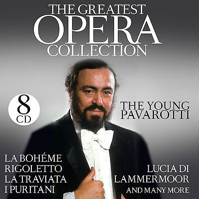 CD Pavarotti The Greatest Opéra Collection de The Young Pavarotti 8CDs