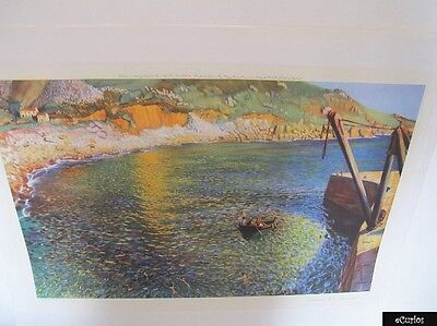 "Dame Laura Knight Print ""Lamorna Cove, Cornwall"" Published by Frost & Reed 1935"