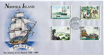 1989 Norfolk Island Mutiny on The Bounty (Gummed Stamps)FDC