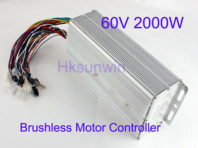 60V 2000W Electric Bicycle Brushless Motor Controller For E-bike & Scooter