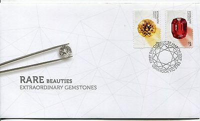 2017 Rare Beauties! Extraordinary Gemstones (P&S Stamps) FDC - Gembrook PMK