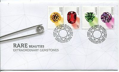 2017 Rare Beauties! Extraordinary Gemstones (Gummed Stamps) FDC - Gembrook PMK