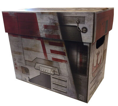 2 X-WING Starship Comic Book Storage Box Star Wars Style Holds 125-140 Comics
