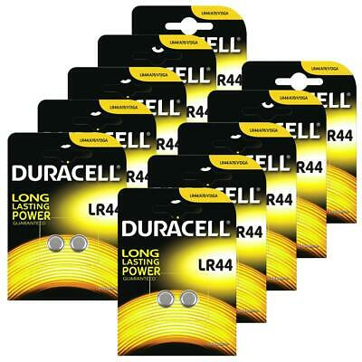 20x Duracell LR44 1.5V Button Coin Cell Battery A76 2 Pack Alkaline Batteries