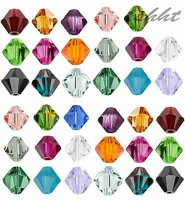 500pcs Loose Glass Crystal Bicone Shaped Spacer Bead For Jewelry Making 4/6MM OU