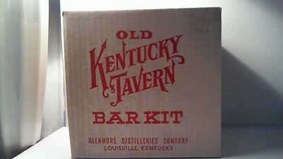 Mint Sealed 1958 Old Kentucky Tavern Bar Kit Shot Glass Glasses Pourer Plus More