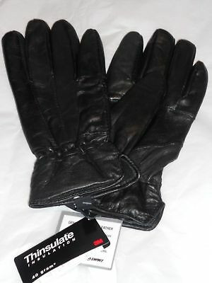 Ladies Sheepskin Leather Thinsulate Gloves, S/M, Blk-SEE DESCRIPTION FOR PICS