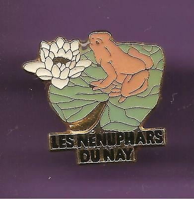 Pin's pin GRENOUILLE FROG LES NENUPHARS DU NAY  (ref CL12)