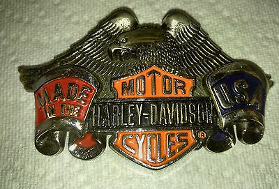 Genuine Harley Davidson Belt Buckle 1991 by Baron free shipping