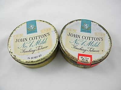 2 Vintage Tobacco Tins, John Cotton's No.1 Mild, NR!