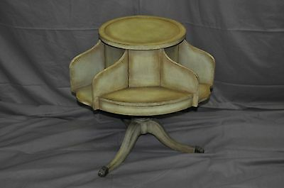 Decorative Green Painted Revolving Book Table