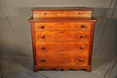 1840's Birds Eye Maple Graduated Four Drawer Chest