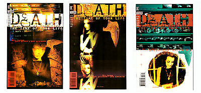 NEIL GAIMAN DEATH The Time of Your Life #1 - 3 in VF 3 DC SANDMAN comic set • $1.99