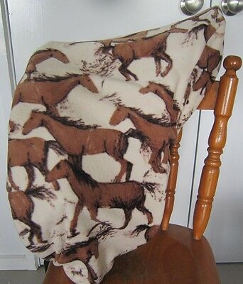 Horse Stock / Western / Swinging Fender Saddle cover FREE EMBROIDERY Brown horse